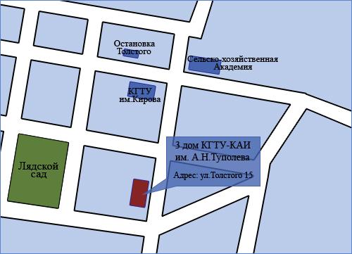 Схема проезда к кафедре Автоматики и Управления.